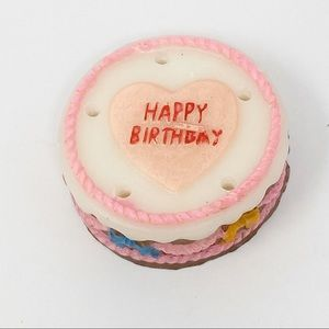 Vintage Happy Birthday Cake Candle